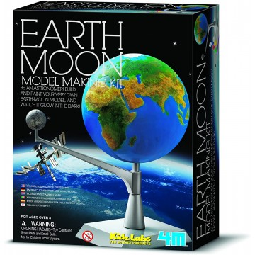 KIDZ LABS AND KIT MODELO EARTH MOON - 4M