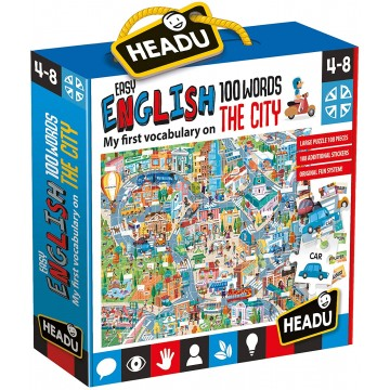 PUZZLE THE CITY 100 PALABRAS EN INGLÉS - Headu