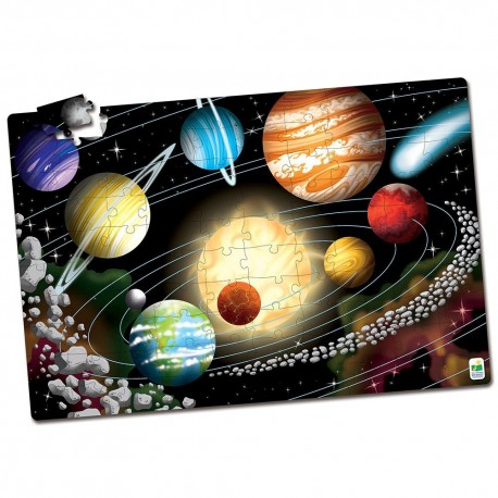 PUZZLE GLOW IN THE DARK ESPACIO 100 PIEZAS - Learning Journey
