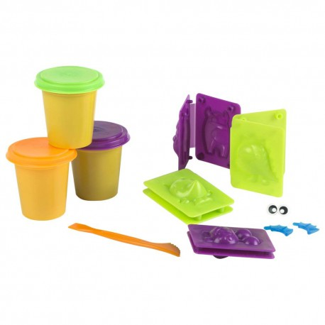 SET PLASTILINA FLUORESCENTE MONSTRUOS
