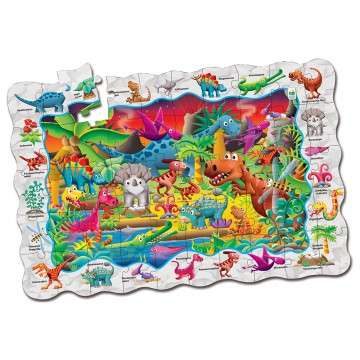 PUZZLE DOBLE FIND IT DINOSAURIOS - The Learning Journey International