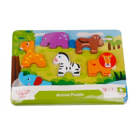 PUZZLE INFANTIL DE MADERA ANIMALES - Tooky Toys